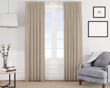 Blackout-Vorhang beige uni