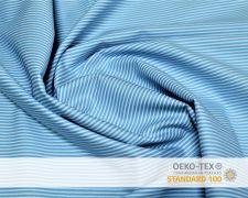 Baumwollstoff Blau mit weißen LinienPrint