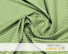 Baumwollstoff Grün mit kleinen Sterne Print