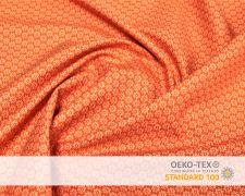 Baumwollstoff Orange mit kleinen Sterne Print