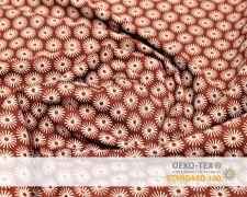 Baumwollstoff Terracotta mit Schirm Print
