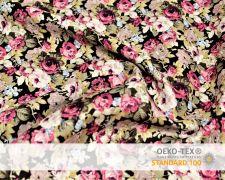 Baumwollstoff Vintage mit Rose Blumen Print